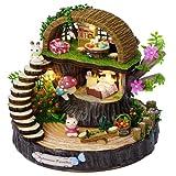 DIY casa de muñecas en miniatura DIY artesanía casa de muñecas kit miniatura modelo bosque regalo decoración del hogar