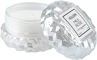 Voluspa Milk Rose Macaron Textured Glass Candle, 1.8 Ounces