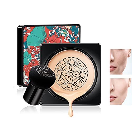 Mushroom Air Cushion CC Creme Feuchtigkeitsspendende Concealer Make-up-Basis Grundierung anhaltend warmen Hautton Nude Face (natürliche Farbe)