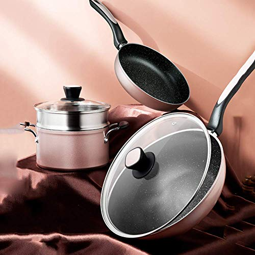 Gflyme Non-Stick Cookware Set, Simply Pots and Pans Set, 4 Piece Induction Cookware Set for Home Restaurant - Best Gift