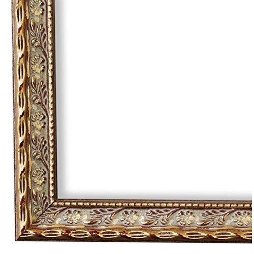 Online Galerie Bingold Bilderrahmen Brescia Gold 2,0 I DIN A2 (42,0 x 59,4 cm) mit Museumsglas (WRU) inklusive Montagematerial I handgefertigte Holz Fotorahmen Posterrahmen Urkundenrahmen