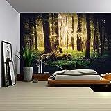 xkjymx Toalla de Playa Cuadrada Decorativa impresión Digital Tapiz Planta Madera Tapiz Retro decoración del hogar Bosque árbol Bar G 200 * 150
