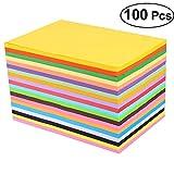 SUPVOX Pastell-Kopierpapier 100 PCS sortiertes Regenbogen-farbiges Drucker-Papier vervollkommnen für Schule und Handwerksprojekte Größe A4
