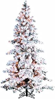 Sterling 7.5' Hvy Flkd Layered Spruce Home Decor, 45InL x 45InW x 90InH, White