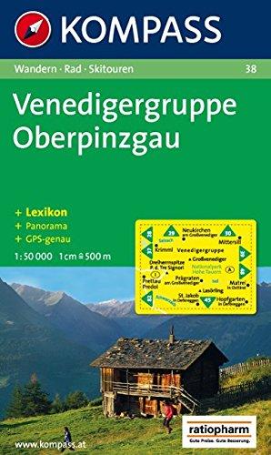 Venedigergruppe, Oberpinzgau: Wandern / Rad / Skitouren. Mit Panorama. GPS-genau. 1:50.000