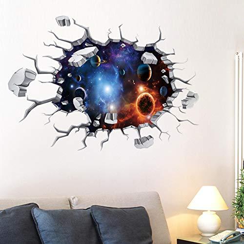 YUAHNG Decoraciones de Techo tridimensionales 3D Cielo Estrellado Papel de Techo Pegatinas de Pared Creativas Dormitorio Pegatinas de habitación de los niños