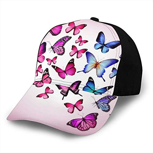 Pink Butterfly Drawing Flying Classic Baseball Cap Men Women Dad Hat Twill Adjustable Size
