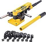 Bonvoisin Curvadora manual para tubos de 180° con 7 matrices de 3/8'-1' para cobre/latón/aluminio/tubos de acero