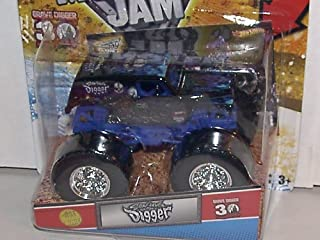 Hot Wheels 2012 1:64 Scale Son UVA Digger 2012 1ST Editions Monster JAM Truck 30TH Anniversary Grave Digger Series with Topps Trading Card
