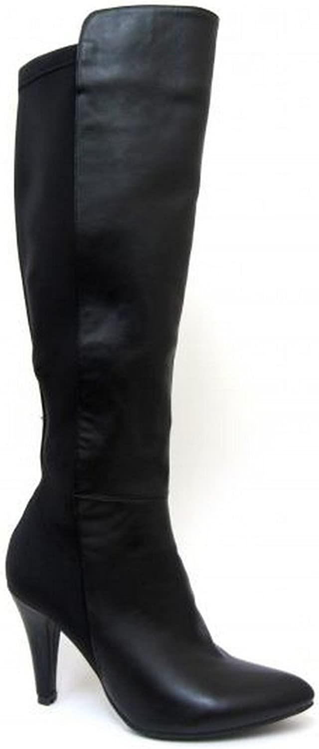 Spot On Womens Ladies High Heeled Leg Boots