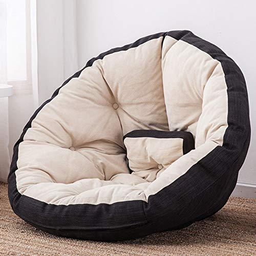 Xin Hai Yuan Erwachsene Kinder Sitzsack Stuhl Mit Füllung Lazy Sofa Klappspielmatte Sitzsack Bett Futon Liege,Schwarz,S
