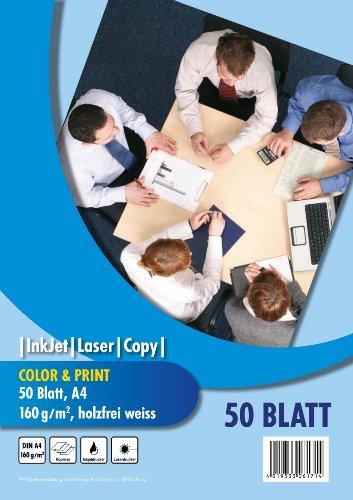 PVP 6171 - Kopierpapier Color & Print DIN A4, 160 g/qm, 50 Blatt, weiß