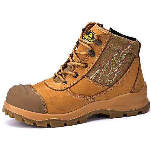 Safetoe Zapatos de Seguridad para Hombres y Mujeres, M-8501 Botas de Seguridad Modelo de Cuero Impermeable, Material de la Puntera Calzado Ligero Acerol Point, Zapatillas para Plantilla Tamaño EU 42