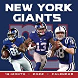 2022 Calendar: New York Giants Yearly Monthly 16-month Calendar 2022 8.5x8.5 with Large Grid for Planning, Scheduling, and Organizing