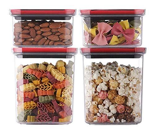 Botes cristal cocina Cereales de grano contenedores de almacenamiento de alimentos Contenedor...