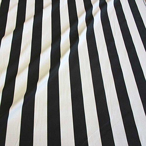 Stoff Baumwollstoff Meterware Blockstreifen schwarz weiß gestreift Streifen Kanada