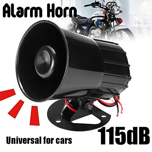 Read About elegantstunning 115dB 6 Sound Car Truck Alarm Police Fire Loud Speaker PA Siren Horn