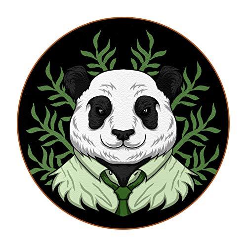 Getränkeuntersetzer für Tischschutz 6er Set für Familie Teetisch Kaffee Modern Deko Niedlich Lustig Panda trägt Arbeitskleidung