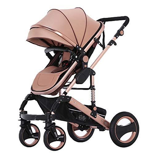Cochecito de bebé Travel System 2 en 1 Buggy Cochecito de niño Cochecito de niño Reverse Buggy Baby Jogger, Marrón