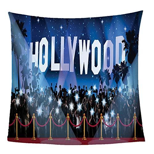 GFDFEYGF Flanell Decke Kuscheldecke 3D Hollywood Drucken Decken Wolldecke Lauschig Weich Warm Microfaser Gemütlich Langlebig Decke für Sofa und Bett130x150cm
