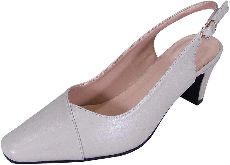 Peerage Taryn Women Wide Width Slingback Comfort Mid Heel Dress shoes for Wedding, Prom, Evening, Work