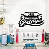 Etiqueta engomada de la belleza de la reparación del coche del arte del vinilo de la decoración del garaje de la pared en la pared etiqueta engomada del arte Mural A8 43x73cm