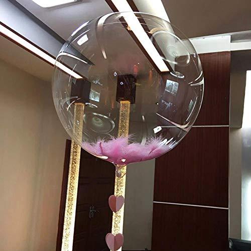 happygirr 10 STÜCKE Party Luftballons Spielzeug für Kinder Runde Blase Ballon Traceless Transparente PVC Ballon Geburtstag Hochzeit Dekorationen Keine Falten