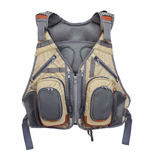 Outdoor Angeln Vest Multi Pocket Breathable Ineinander greifen-Fischen-Pack Weste Mantel Sport-Rucksack