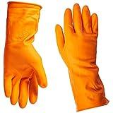 ボス手袋大型12インチオレンジラテックス裏地手袋4708L