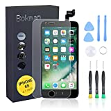 bokman for iPhone 6s Black Screen <span class='highlight'>Replacement</span> <span class='highlight'>Parts</span> Full Display Assembly with Home button, Earpiece Speaker and Front Facing Camera Pre-assembled