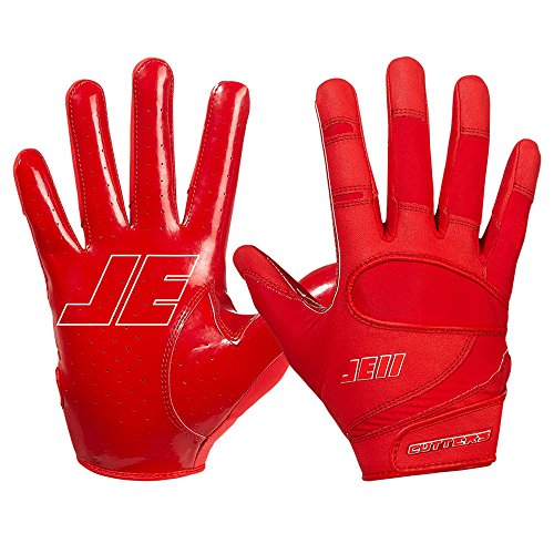 Cutters JE11 Signature Series ungepolsterte Football Handschuhe - rot Gr. XL