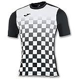 Joma Flag M/C Camiseta Equipamiento, Hombre, Negro/Blanco, L