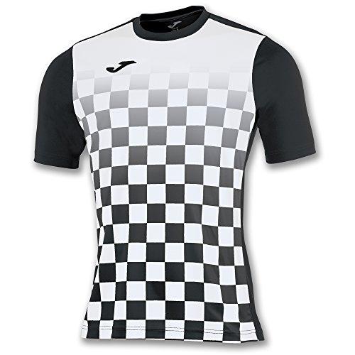 Joma Flag M/C Camiseta Equipamiento, Hombre, Negro/Blanco