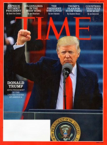 Time Magazine (January 30, 2017) Donald Trump 45th President of the United States of America