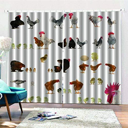 Swiftswan Dekoration Kreative Bad Lustige Huhn Duschvorhang Polyester Plane Bad Vorhang