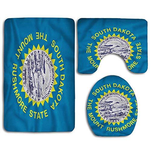 Bandera de Dakota del Sur Sol de tonos amarillos en un campo...
