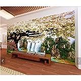 Zybnb Flor De Cerezo Wallpaper Wallpaper Mural Papeles De Pared Para Paredes Hd Photo Wallpapers Contacto Papel Floral Wallpaper Wall Decor