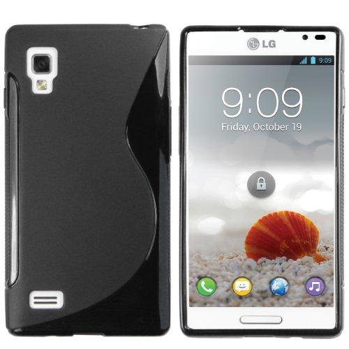 mumbi Hülle kompatibel mit LG Optimus L9 Handy Case Handyhülle, schwarz