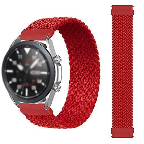 gujiu Banda de Correa Trenzada  Solo Loop, para Samsung Galaxy Watch 3 46mm 42mm Sport Elástico Nylon Tela Silicona Strap Sports 20mm 2 Gear S3 Pulsera para Huawei Watch GT / 2 / 2E / Pro Correa