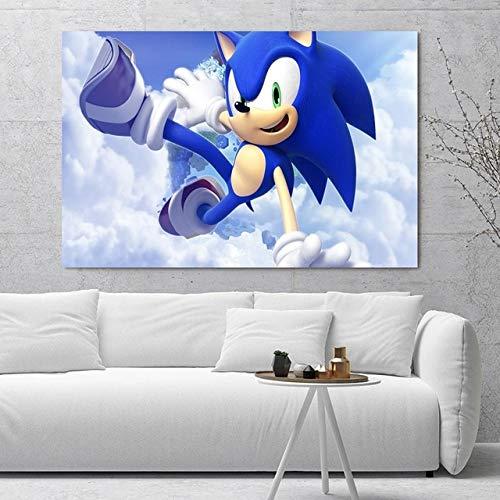 Juego de Dibujo de Sonic Hedgehog Rompecabezas de Madera de 1000 Piezas Imposible Rompecabezas, Juego de Habilidad para Toda la Familia. 50x75cm