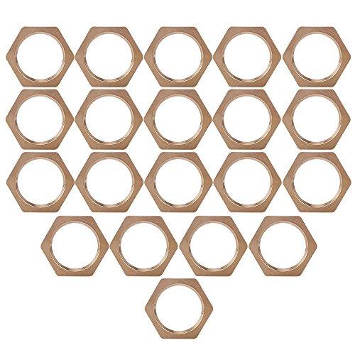 Lot de 20 1/10,2 cm Cuivre Bspt Tuyau Filetage Écrou hexagonal Tube connecteur de fixation Joint