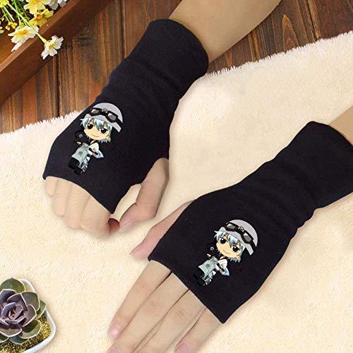 NXMRN Gintamaa Fingerlose Handschuhe, Anime-Motiv, aus Mischbaumwolle, für Herbst und Winter, Gintamaa