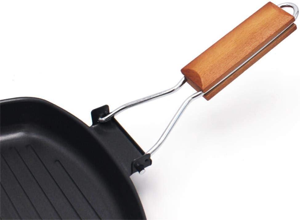 NR Poêle Poêle À Steak Antiadhésive À Fond De Vague Omelette Pan Pliant Barbecue Pot Maison Et Jardin Pan, 20 Cm 20cm