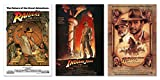 Indiana Jones I, II, III - Movie Poster Set (3 Individual Full Size Movie Posters) (Size: 27 inches x 40 inches each)