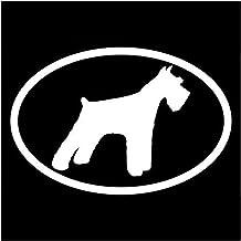 YINGJUN 15.2x10.2CM schnauzerhond Oval Decofolie Car Styling Window decoratieve Stickers Zwart/Sliver C6-1497 Accessoires...