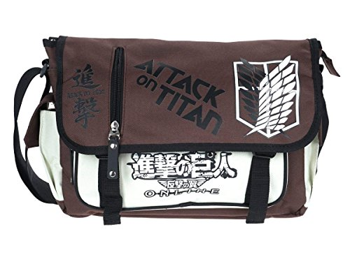 Bonamana Anime Cosplay Cartoon Mode Beiläufige Beutel Rucksack Umhängetaschen Sport Freizeit Rucksäcke Taschen Daypacks (Attack on Titan)