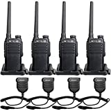 Retevis RT47 IP67 Waterproof Walkie Talkies, Long Range Two Way Radios for Adults, Rugged Rechargeable Portable 2 Way Radios with Speaker Mic Commercial Warehouse(4 Pack)
