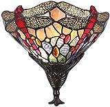 LIUYULONG Aplique Pared Cristal Accesorio de la Pared de la lámpara de la Vendimia Luces sentimiento romántico Retro diseño Moderno Aplique habitación Glow Metal Kids (Color : Stained, Size : 25cm)