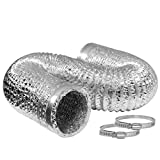 VIVOHOME 4 Inch 25 Feet Aluminum Flexible Dryer Vent Hose with 2 Clamps for HVAC Ventilation Pack of 1