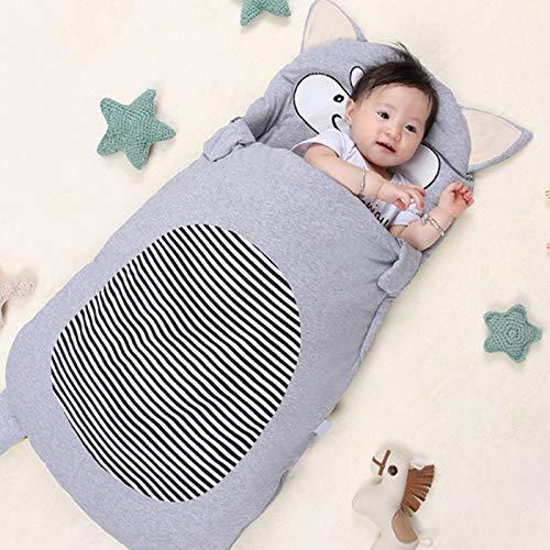 ZZJCY Infant Sleeping Bag, All Seasons Sleep & Travel Bag Toddler, Multifunction Stroller Wrap Sleeping Mat Thick Warm Sleeping Bag for Newborn Boys Girls 0-3 Years,M